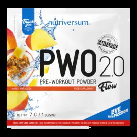 PWO 2.0 - 7g - FLOW - Nutriversum - mangó-maracuja
