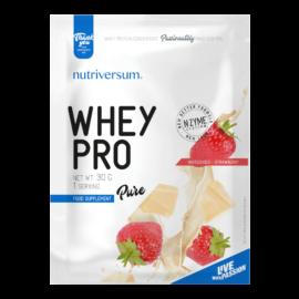 Whey PRO - 30 g - PURE - Nutriversum - fehércsokoládé-eper