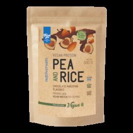 Pea & Rice Vegan Protein - 500g - VEGAN - Nutriversum - csokoládé-marcipán - 100% növényi fehérje