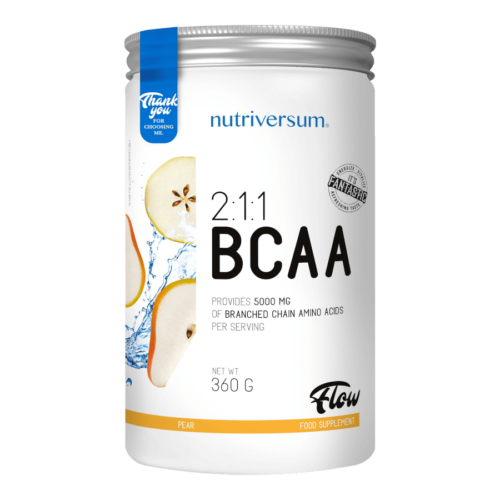 2:1:1 BCAA - 360 g - FLOW - Nutriversum - körte - esszenciális aminosav