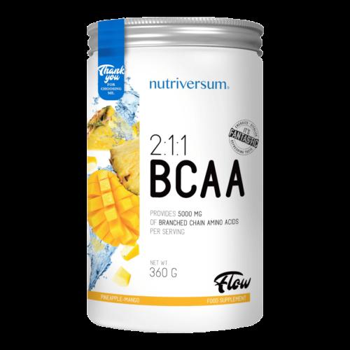 2:1:1 BCAA - 360 g - FLOW - Nutriversum - ananász mangó - esszenciális aminosav