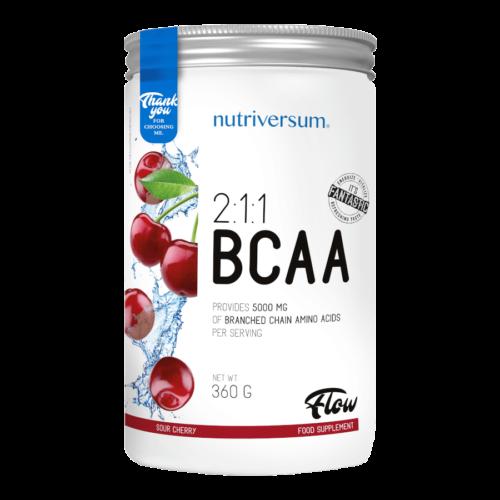 2:1:1 BCAA - 360 g - FLOW - Nutriversum - meggy - esszenciális aminosav