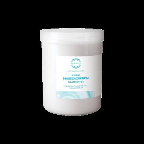 Zsíros, illatmentes masszázskrém - 1000ml - színezék-, parabén- és paraffin mentes