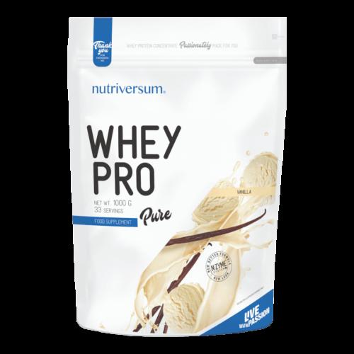 Whey PRO - 1 000 g - PURE - Nutriversum - vanília - 23 g prémium fehérje forrás