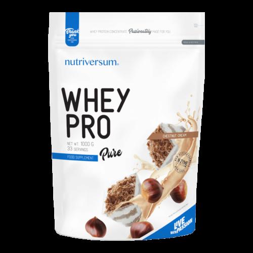 Whey PRO - 1 000 g - PURE - Nutriversum - gesztenyepüré - 23 g prémium fehérje forrás