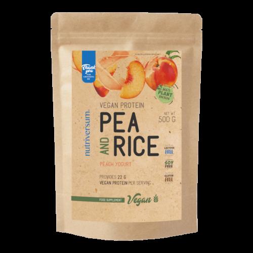 Pea & Rice Vegan Protein - 500g - VEGAN - Nutriversum - barack-joghurt - 100% növényi fehérje