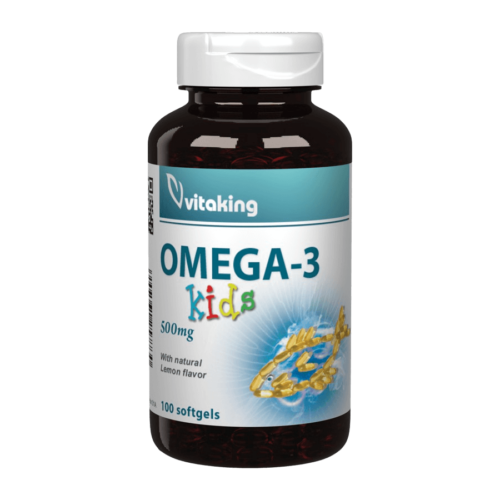 Omega-3 Kids 500mg - 100 gélkapszula - Vitaking  -