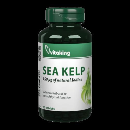 Sea Kelp Jód 100mg (150mcg) - 90 tabletta - Vitaking -