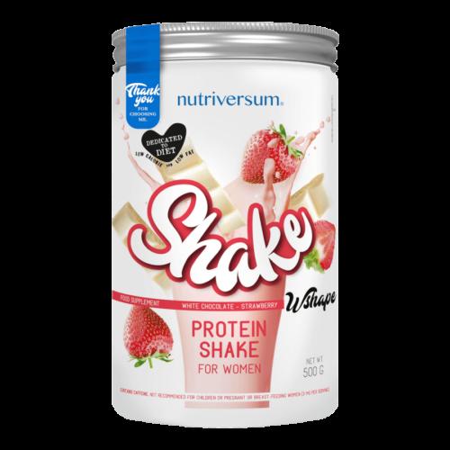 Shake - 500 g - WSHAPE - Nutriversum - fehércsokoládé-eper - étkezéshelyettesítő shake