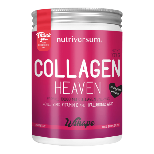 Collagen Heaven - 300 g - WSHAPE - Nutriversum - málna - 10.000mg Kollagén