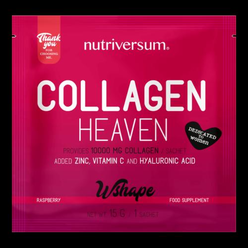Collagen Heaven - 15 g - WSHAPE - Nutriversum - málna - 10.000mg Kollagén