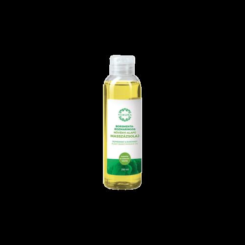 Borsmenta-Rozmaringos növényi alapú masszázsolaj - 250ml - színezék-, parabén- és paraffin mentes