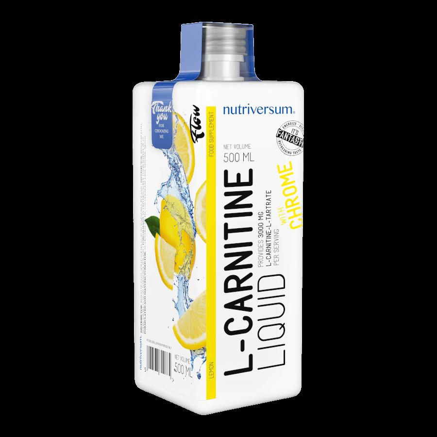 L-Carnitine 3 000 mg - 500 ml - FLOW - Nutriversum - citrom