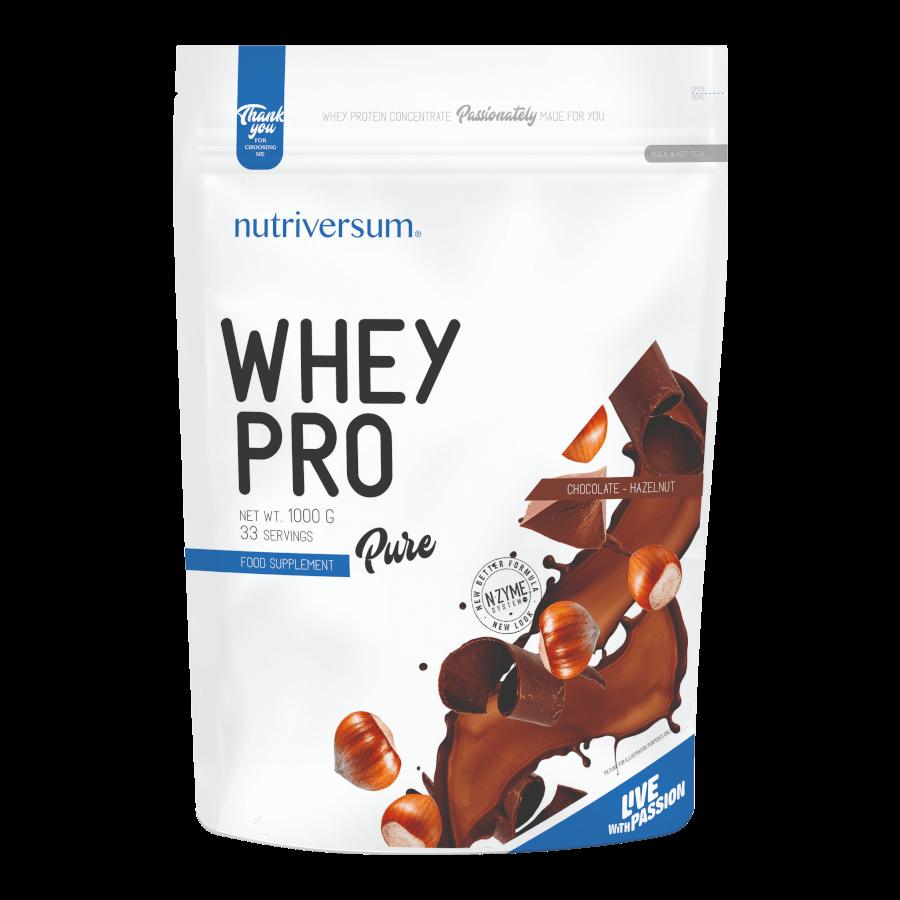 Whey PRO - 1 000 g - PURE - Nutriversum - mogyorós-csokoládé