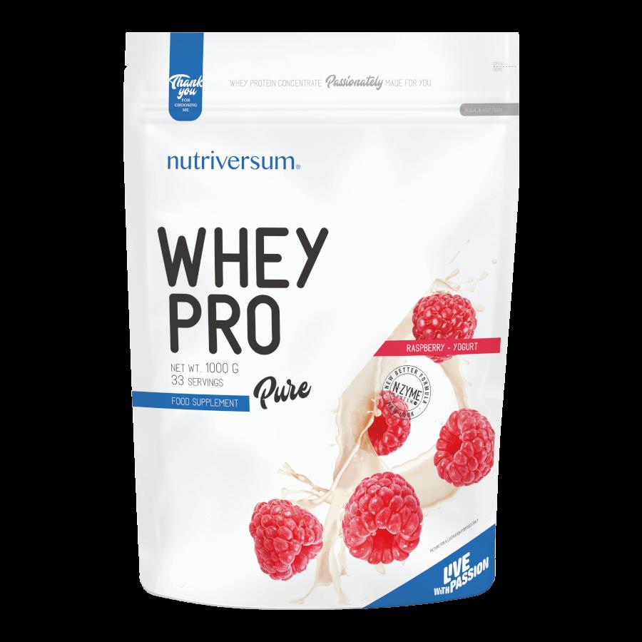 Whey PRO - 1 000 g - PURE - Nutriversum - málna-joghurt