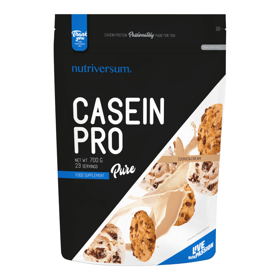 Casein Pro - 700 g - PURE - Nutriversum - cookie&cream