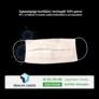 Kép 2/4 - Egészségügyi Textil Szájmaszk bevizsgált, mosható (1db) - felnőttek részére